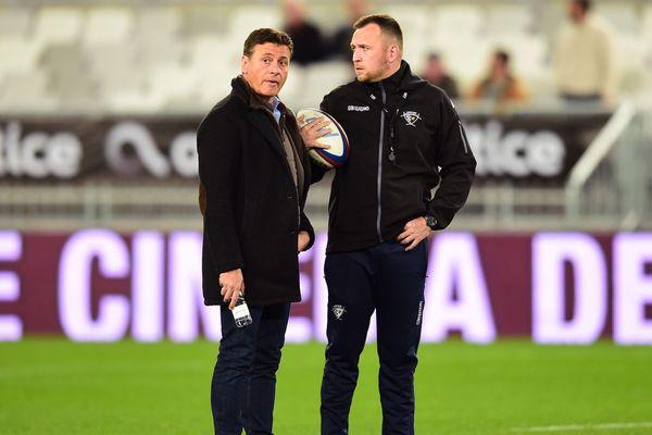 Laurent Marti et Rory Teague lors du match face à Toulouse.