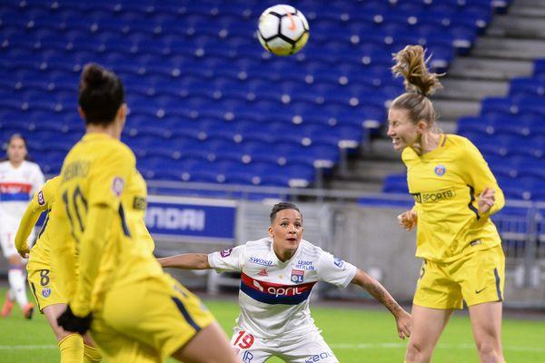 Un match OL/PSG féminines, le 11 décembre 2017.