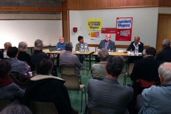 Le député européen Front de gauche Jacky Hénin à Drucat