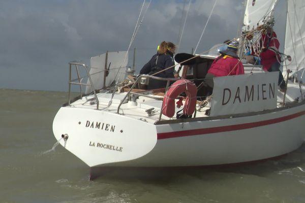 Le Damien a repris la mer à La Rochelle avec Violette Dorange