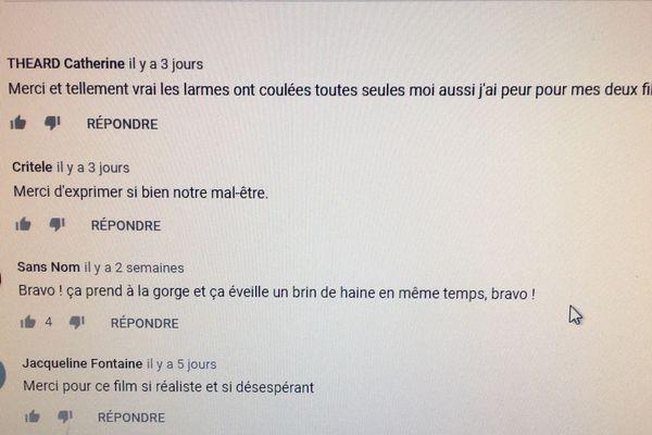 """Quelques commentaires sur le site Youtube à propos du film """"Chloé"""""""