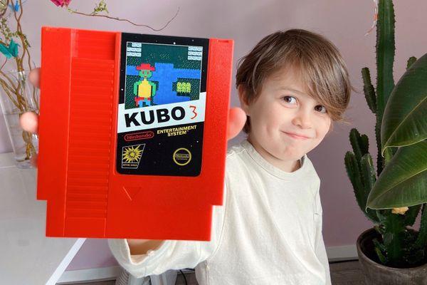 Seiji a créé Kubo 3 du haut de ses 8 ans, un nouveau jeu pour l'ancêtre des consoles, la Nintendo NES