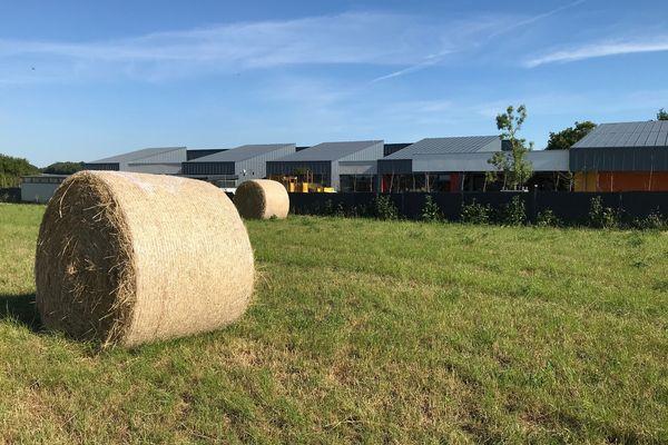 L'école de Treillières, près de Nantes, est située contre un champs de blé où l'on utilise des pesticides. Une bande non traitée de 20 m a été aménagée.