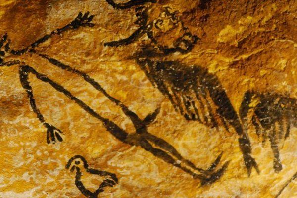 Détail du facsimilé de la grotte de Lascaux proposé lors de l'exposition itinérante.