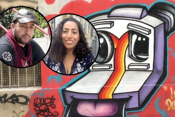 Redha Menassel et Amina Boumazza ont mené l'enquête autour des graff qu'ils ont découverts à Marseille et à Alger.