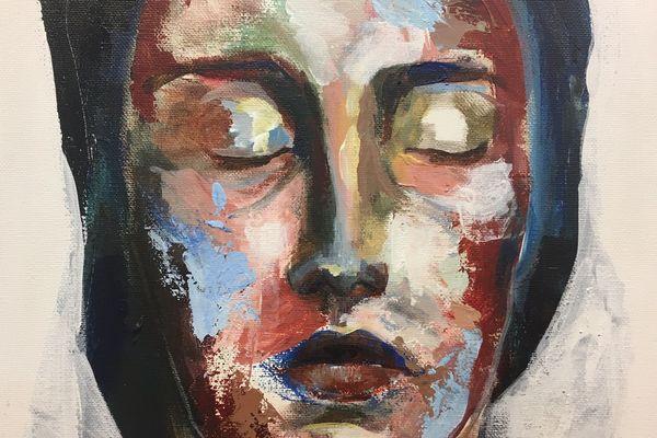 """""""Rêveuse"""" d'Albane Dela, une des quatre jeunes artistes exposés par Art'Course jusqu'au 31 janvier 2020"""