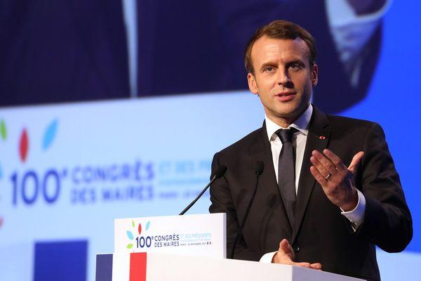 Emmanuel Macron, jeudi 23 novembre 2017, au Congrès des maires.