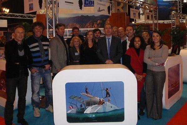 08/12/12 - Tous les partenaires présents sur le stand de la Corse au Nautic 2012