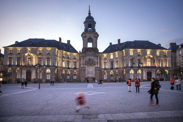 Hôtel de ville de Rennes, janvier 2021