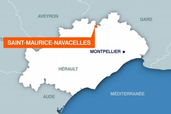 Carte Saint-Maurice-Navacelles (Hérault)