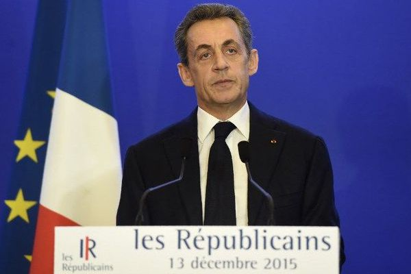 Nicolas Sarkozy, le 13 décembre 2015