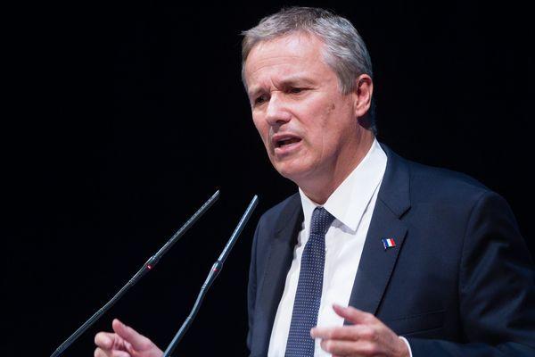 Nicolas Dupont-Aignan, président de Debout la France (DLF) et candidat à la présidentielle