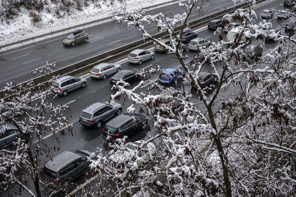 De la neige est attendue en plaine ce jeudi. Photo d'archives.