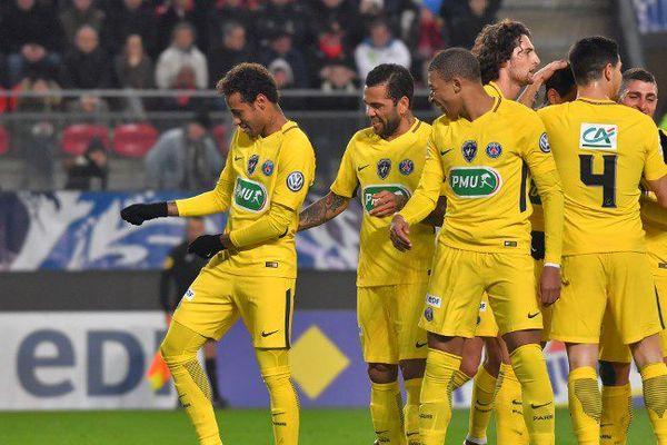 Le PSG dernier face à Rennes, le 7 janvier 2018.