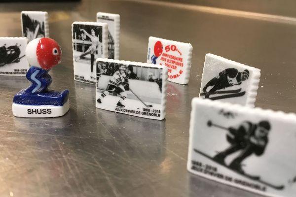 Les 9 fèves olympiques éditées pour le cinquantenaire des JO de Grenoble