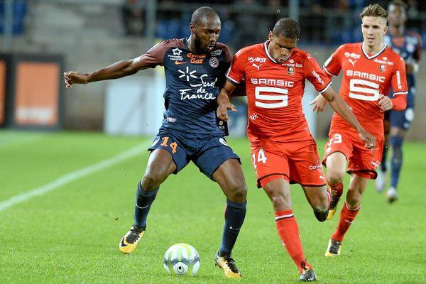 Le MHSC s'est incliné face au Stade Rennais 0 à 1 à la Mosson samedi soir - 28 octobre 2017.