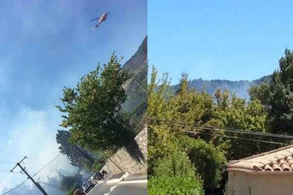 L'incendie s'est déclaré en début d'après-midi sur la commune d'Auribeau-sur-Siagne.