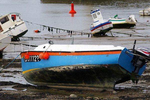 Marée basse dans le port de Saint-Gilles-Croix-de-Vie