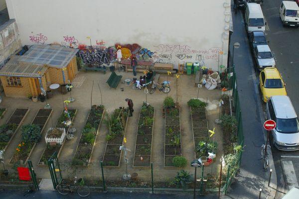 Le jardin nomade de la rue Trousseau, dans le 11ème arrondissement de Paris.