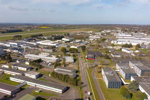 Le plateau industriel Pégase à Lannion.