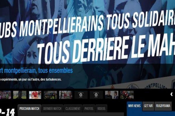 Capture d'écran du MHRC - un bandeau d'accueil en soutien au MAHB