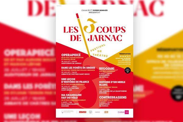 """affiche du festival """"les 3 coups de Jarnac"""""""