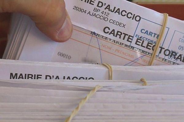 Pour l'élection présidentielle, la mairie d'Ajaccio (Corse du Sud) a enregistré à la clôture de la liste électorale 35 350 inscrits, contre 34 385 au 1er mars de l'année dernière.