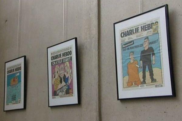 30 unes exposées à la bibliothèque du Carré d'Art à Nîmes.