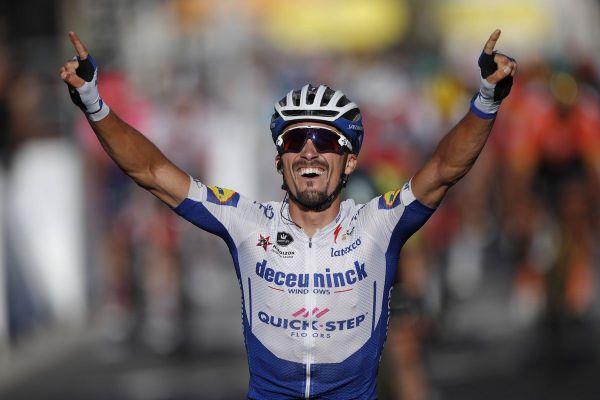 Alaphilippe vainqueur de la 2e étape et maillot jaune