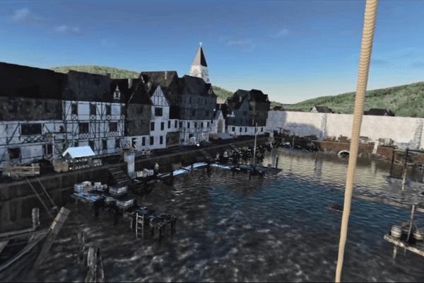 Capture d'écran du port d'Honfleur via l'application Legendr.