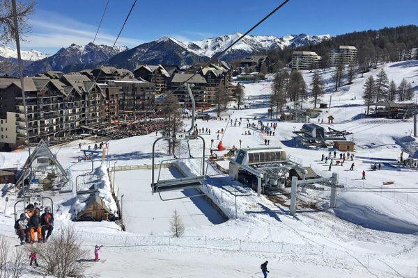 La station de Risoul dans les Alpes du sud.