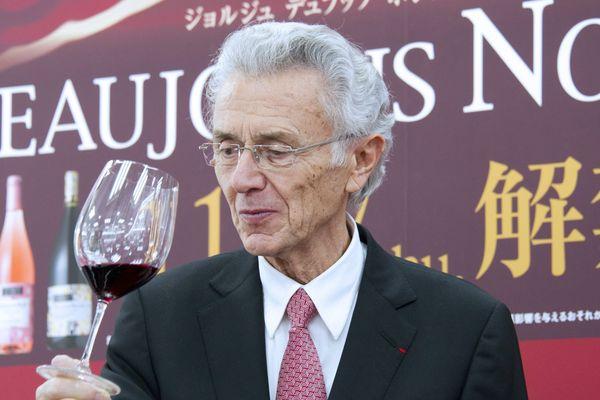 Georges Duboeuf, en 2011, à Tokyo (Japon).