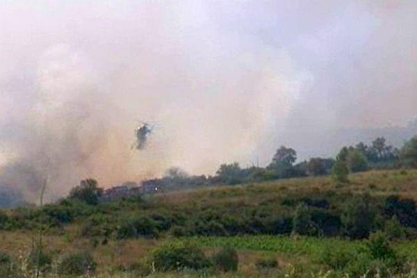 Incendie dans les Pyrénées-Orientales - août 2013. Illustration