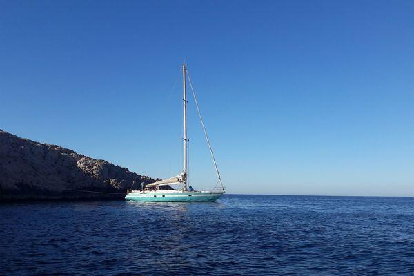 Le Rana II, voilier de la flotte marseillaise de l'association du Père Jaouen