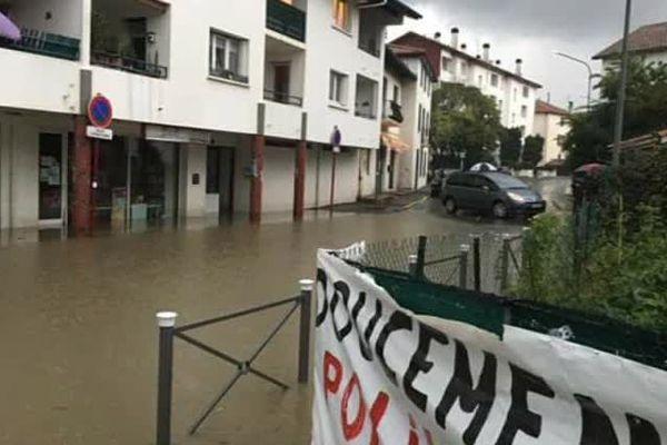 les bas quartiers d'Hendaye victimes d'inondations à répétition