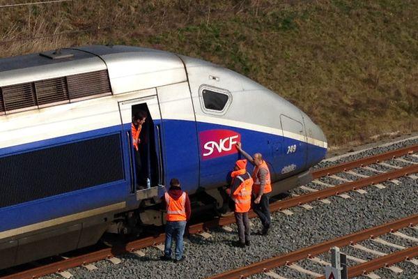 La rame à l'arrêt à Vendenheim