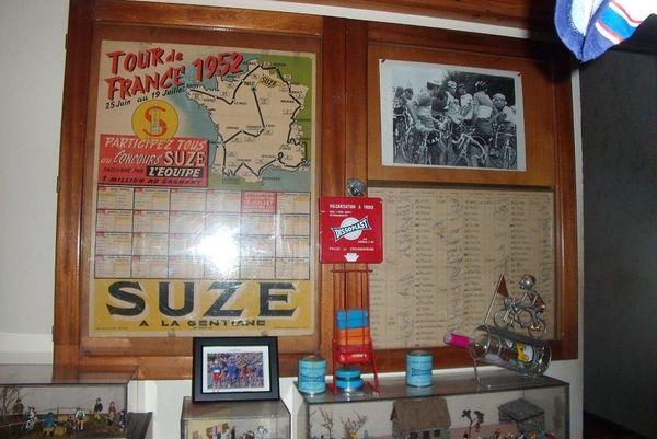Une carte du Tour de France 1952 : on les trouvait dans des revues cyclistes
