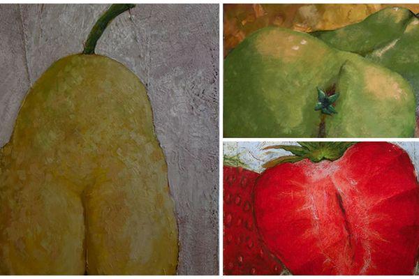 Jean-Marc Laloux peint des fruits pour parler de sensualité et de sexualité.