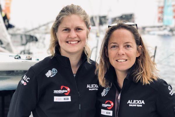 Alexia Barrier et Joan Mulloy, le seul équipage 100% féminin de la Transat Jacques Vabre 2019.