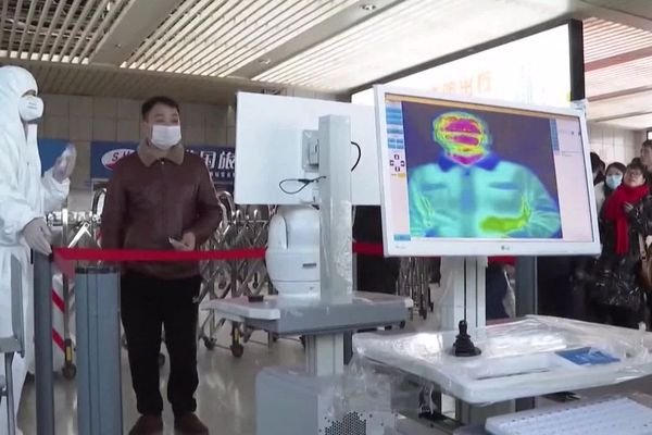 Une caméra thermique dans un aéroport - archives.