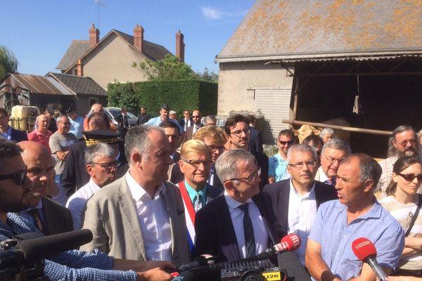 Didier Guillaume, ministre de l'Agriculture en visite dans le Loir-et-Cher lundi 22 juillet 2019