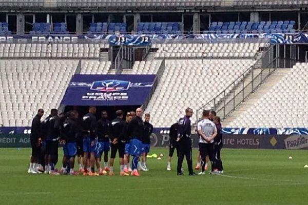 L'entraînement AJA au stade de France vendredi 29 mai 2015