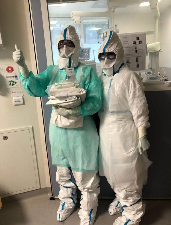 Infirmières du service réa à la Timone