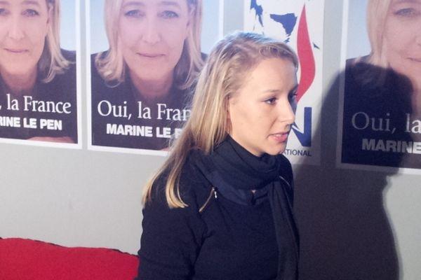 Marion Le Pen avant le banquet patriotique du Gard