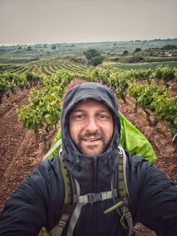 Rémi Clémenceau, en juin dernier, lors de sa traversée de la Rioja, au nord de l'Espagne