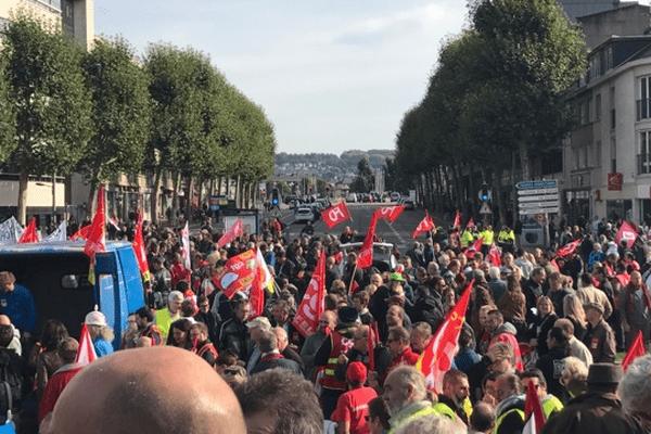 Départ de la manifestation de Rouen le 21 septembre 2017