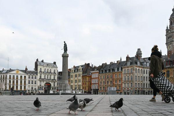 La Grand'Place de Lille pendant le confinement