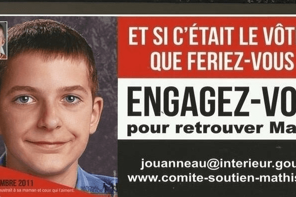 une pétition circule sur le net pour relancer l'enquête sur la disparition de Mathis Jouanneau