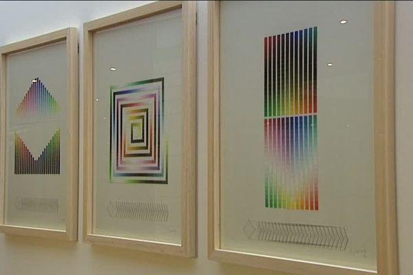 L'exposition présente plusieurs œuvres prêtées par le Centre Pompidou.