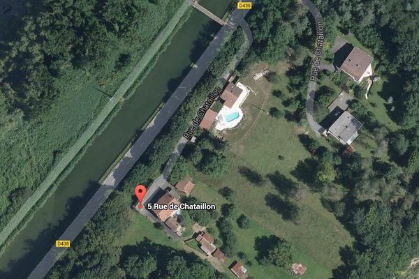 vue satellite de la rue de Chataillon